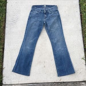 7 For All Mankind Leather embellished Bootcut